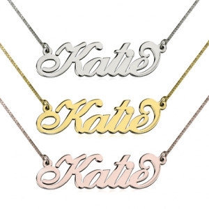 Name Necklace and Bracelet