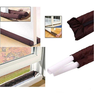 Twin Door Draft Dodger Guard Stopper Energy Saving Protector Doorstop Home