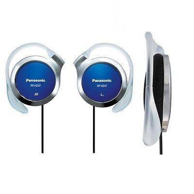 Panasonic RP-HZ47-A Blue Ear-Clip Headphones 9.9mm Ultra Slim RPHZ47 /GENUINE