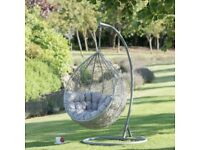 Rattan Egg Swing Chair, Brand New in Box, RRP:£350