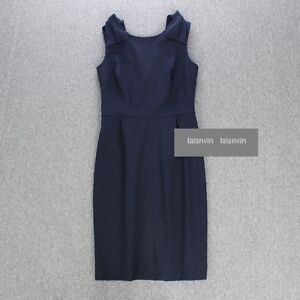 2013 $228 J crew Origami Bow Dress in Stretch Wool Work Suiting 00-10 2 colors