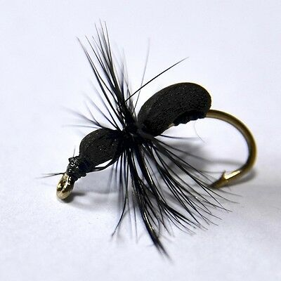 Black Foam Ant Dry Fly Trout Grayling Fly Fishing Flies