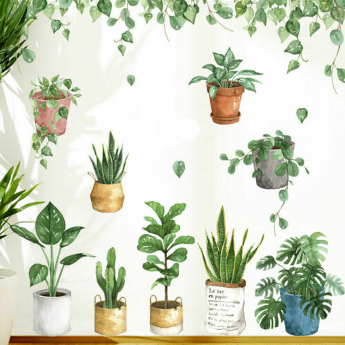 Home Decoration - Pot Plants Removable Wall stickers Wall Decal Kids Room Home Decor Art Mural DIY
