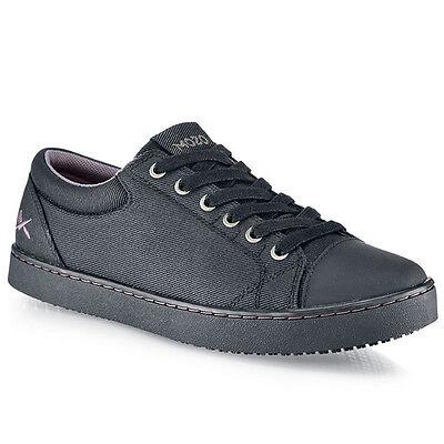 Mozo GRIND Mens Black Canvas Slip Resistant M33839 Lace Up Work Comfort Shoes