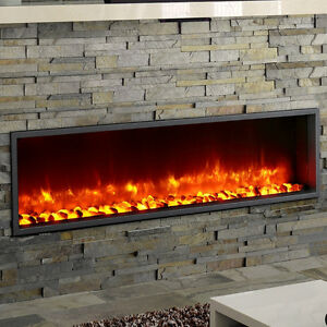 "55"" Built-in LED Wall Mount Electric Fireplace (Free Shipping)"