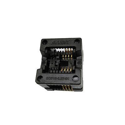 Sop8 Soic8 So8 Burn In Socket Test Adapter Pin Pitch 1.27mm C Body Width 3.9mm