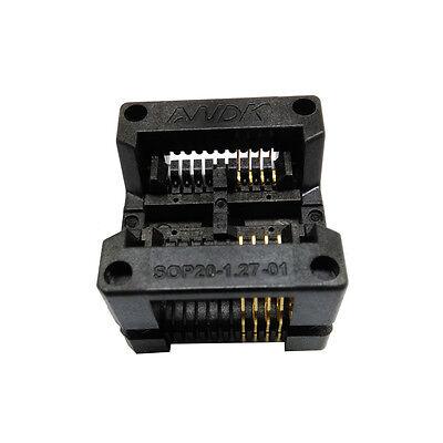 Sop8 Soic8 So8 Burn In Socket Test Adapter Pin Pitch 1.27mm Ic Body Width 5.4mm
