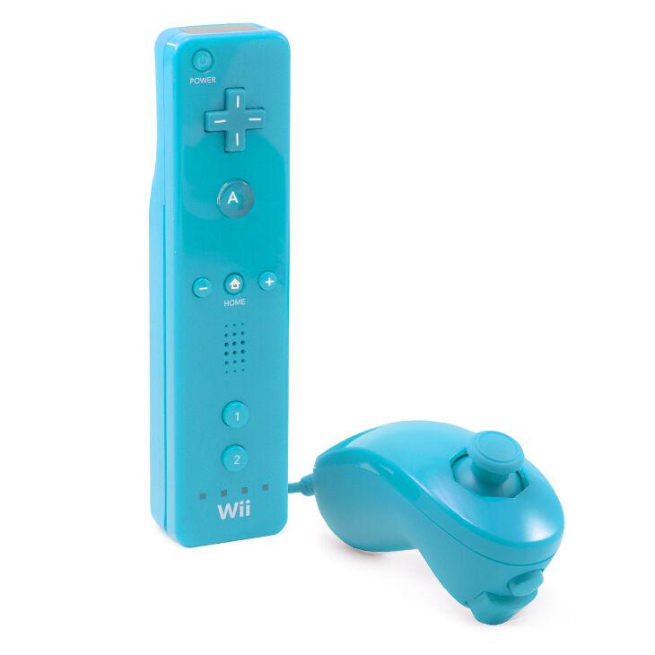 Nintendo Wii - original Remote + Nunchuk Controller #weiß/schwarz (auch Wii U)