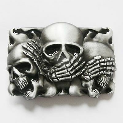 Shy Skulls Black Flame Belt Buckle
