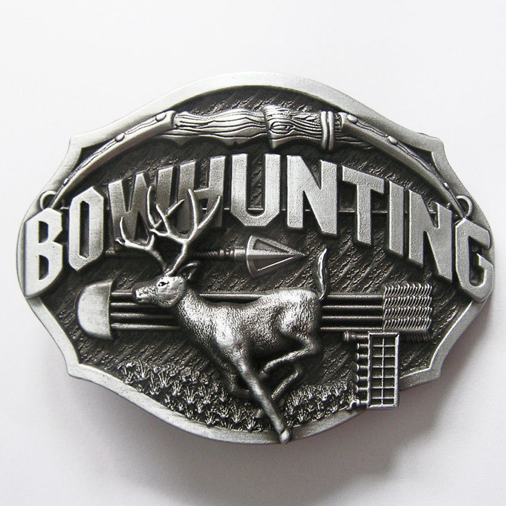 Bowhunting Deer Buck Metal Fashion Belt Buckle