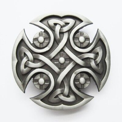 Cross Metal Belt Buckle - Original Celtic Keltic Iron Cross Western Metal Fashion Belt Buckle