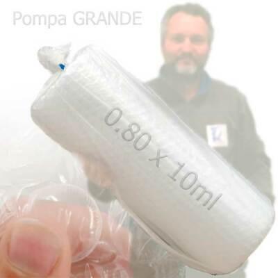 Rollo de plástico de burbujas 80cm x 10m -90g - Pompa grande...