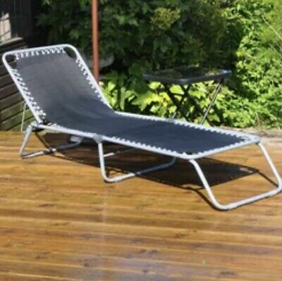 Reclining Sun Loungers - Set Of 2