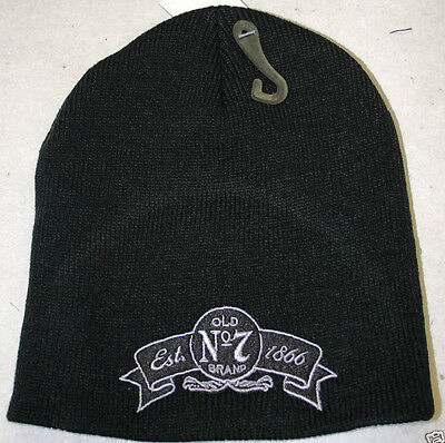 """JACK DANIEL'S """" OLD No. 7"""" EMBROIDERED BEANIE  Free Shipping"""