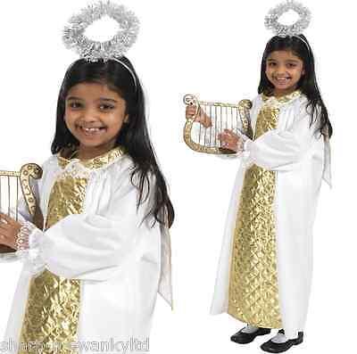Mädchen Jungen Kinder Engel Gabriel Weihnachten Krippe Verkleidung Kostüm Outfit