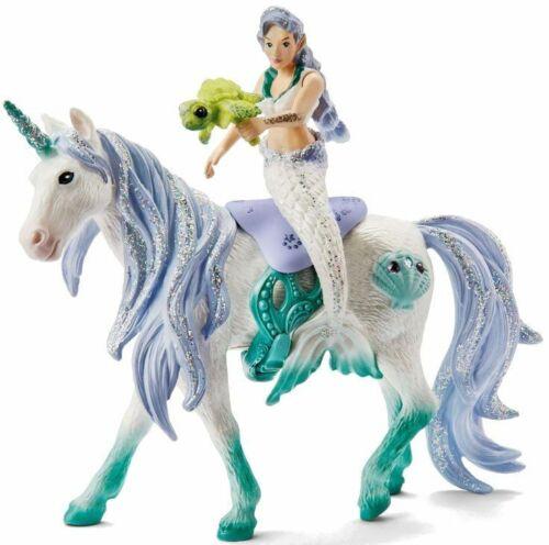 <>< Mermaid Riding on Sea Unicorn  42509  by Schleich  Stunning Bayala
