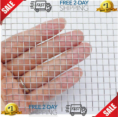 Stainless Steel Wire Mesh Screen 1 Roll Metal Security Guard Garden Cabinets New
