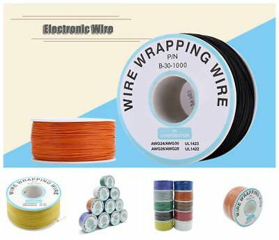 30awg Electronic Wire Single Strand Copper Wrapping Wire Cable Pcb Wire 250m