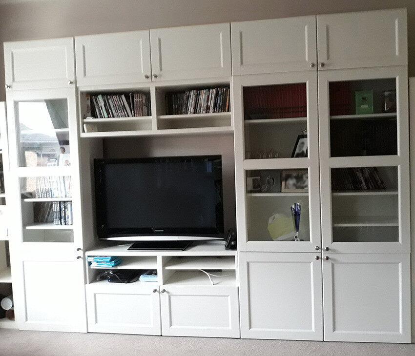 Ikea White Besta Living Room Unit