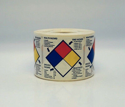 NFPA Right To Know Labels 2 x 2 inch 500/roll  (Nfpa Labels)