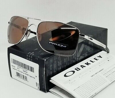 "OAKLEY chrome/tungsten ""PRIZM"" POLARIZED GAUGE 8 OO4124-0962 sunglasses! NEW!"