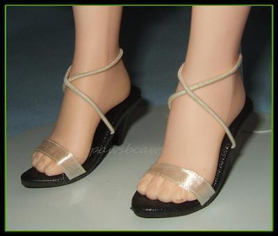 "Cream Satin Sandals SHOES fit Madame Alexander 21"" 22"" Portrait SCARLETT O'HARA"