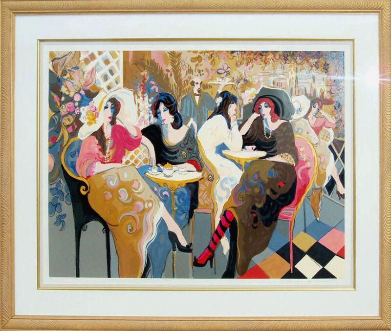 "Isaac Maimon ""le Bistro Cafe"" Hand Signed Serigraph Fine Art, Framed, Make Offer"