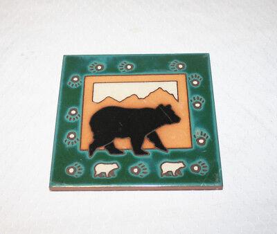 Masterworks Handcrafted Art Tiles Ceramic Tile Trivet Bear