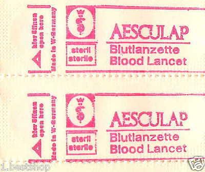 Aesculap 250 Blutlancetten Blood Lancets Blutentnahme Diabetiker Care Lancetten