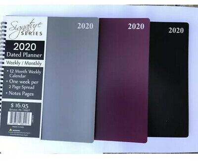 2020 Calendar Planner 8x10spiral Academic Agenda Appointment Book Monthlyweekly