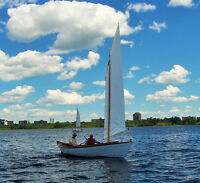 One-of-a kind cruising Swampscott sailing dory