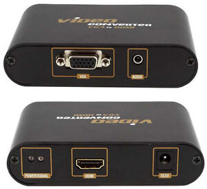 VGA & 3.5mm AUX Audio to HDMI Converter