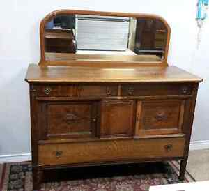 Antique Buffet with Mirror * Delivery Available *