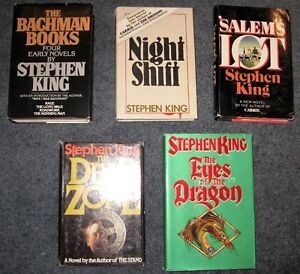 Rare Stephen King Hardcover books