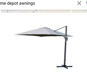 10ft square awning with lights