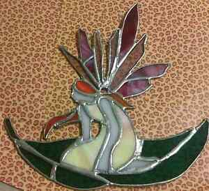 Handcrafted stained glass suncatchers fairys