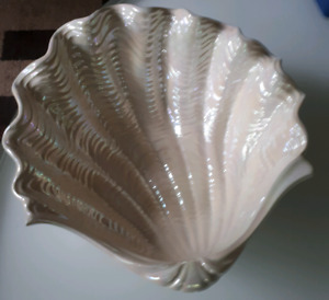 Maddux of California White Pearl Iridescent Shell Bowl-$20