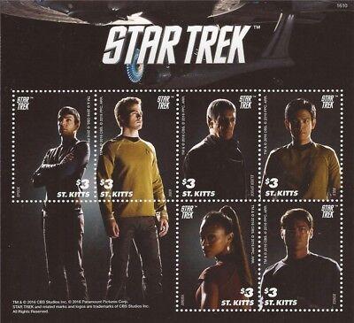 St Kitts - 2016 Star Trek - 6 Stamp Sheet - 19S-002