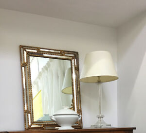 Mid Century Multifaceted Venetian Gilt Mirrors - 2 sizes avail.