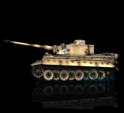 Henglong 1/16 Scale Yellow 6.0 Plastic Ver German Tiger I RTR RC Tank 3818 Model for sale  Shipping to Canada