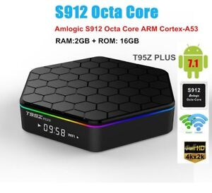 NEW T95Z PLUS ANDROID BOX - FULLY UPDATED - 2G/16G - S912 - 7.1