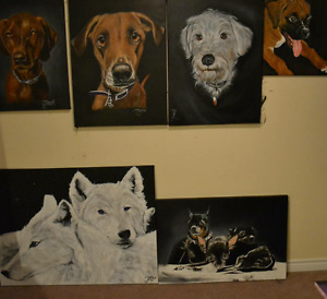 Custom Dog portraits