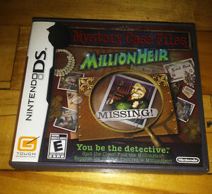 Nintendo DS game Mystery Case Files - MillionHeir