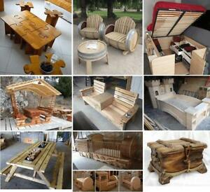 Create Your Own Wood Furniture! Tables, Beds, Book Case, Cellar, etc!