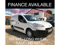 Peugeot Partner 1.6HDi ( 92 ) Crew Van S L2 5 SEATER - LWB - NO VAT