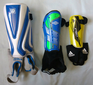 Shin guards: Adidas, Umbro & Wilson