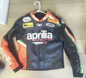 Aprilla RSV4 Motorcycle Leather Jacket For Sale