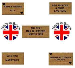 Personalised-Coir-Door-Floor-Mat-Black-Letters-4-Sizes-Marriage-Love-Wife