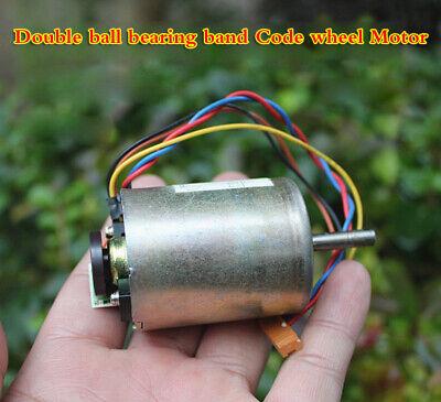 Dc Motor 24v Double Ball Bearing With Encoder Carbon Brush Motor Anti-interferen