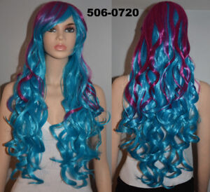 BRAND NEW: Gradient Bright Purple & Turquoise Cosplay Wig